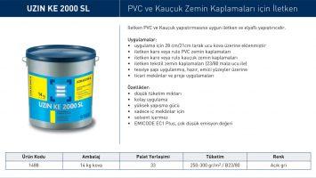 Uzin KE 2000 SL – İletken PVC ve Kauçuk Yapıştırıcısı