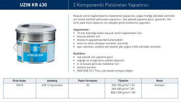 UZIN KR 430 – 2 Komponentli Poliüretan Yapıştırıcı