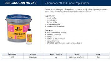 UZIN MK 92 S– 2 Komponentli PU Parke Yapıştırıcısı