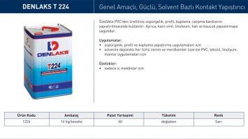DENLAKS T 224 – Solvent Bazlı Kontakt Yapıştırıcı